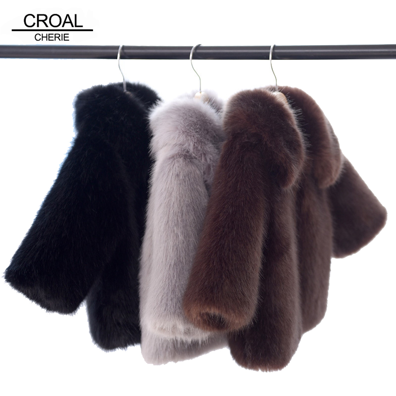 CROAL CHERIE 60-160cm Fashion Fur Baby Winter Jackets And Coats Thicken Girls Winter Fur Coat Newborn Snowsuit Kids Outerwear cherie cherie lip balm mint