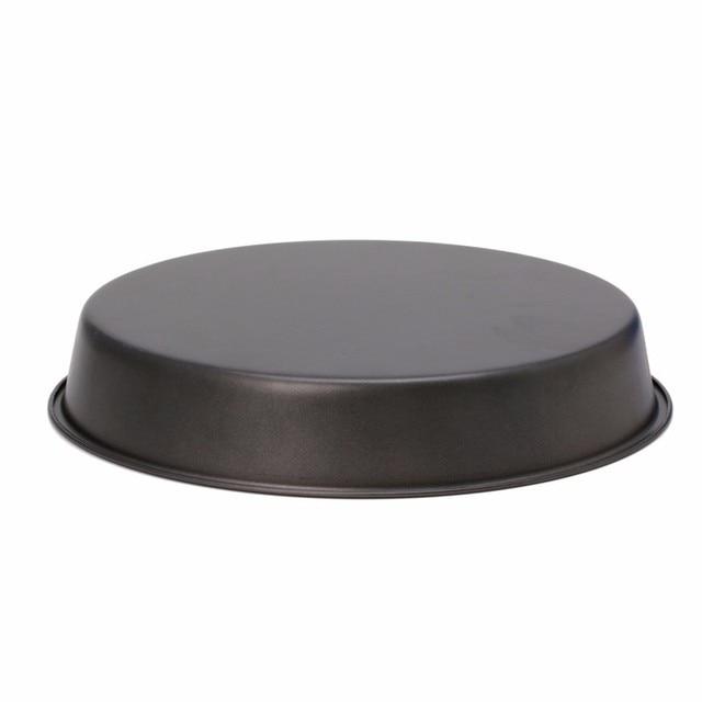 Plateau à tarte antiadhésif   Nouveau plat rond, casserole à Pizza profonde, plateau à tarte antiadhésif, outil de cuisine de 22cm en acier