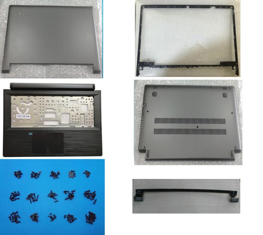 New Original for Lenovo Flex 2 14 LCD Back Case+Frame/Bezel Front LCD Case+Palmrest Upper Case +Lower Base Case+Hinge Cover Gray
