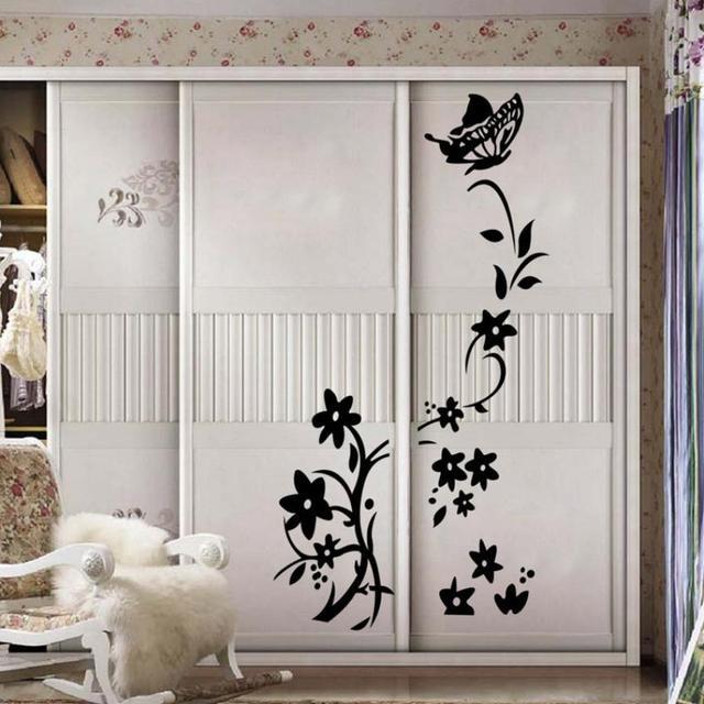 Great DIY Decoração Flor Vinha Quarto Armário Geladeira Adesivo Decalque Mural Home  Decor 101