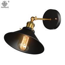 Hot Industrial Loft Wall Lamp Adjustable Vintage Black Plated Light Retro Country Style Sconce Wall Lights for Corridor Lighting