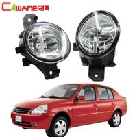 Cawanerl For Nissan Platina 2002 2010 Car Accessories 4000LM H11 LED Bulb Right + Left Fog Light DRL Daytime Running Light 12V