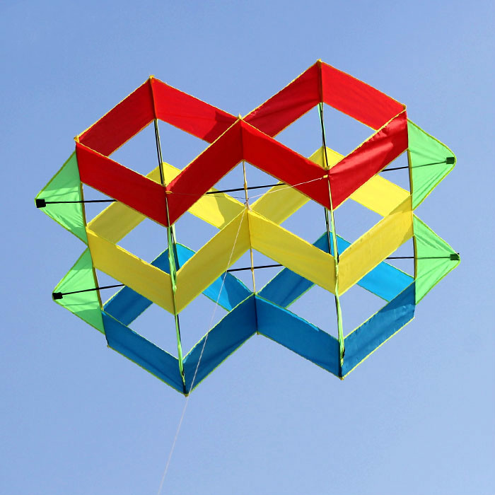 Creative Stereo Double Palace Lantern Kite With Kite Line Outdoor Flying Kites For Children And Adult Super Kite 2017