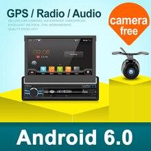2 г 32 г Android 6,0 Универсальный Один 1 DIN 7 «Car Радио стерео Quad 4 ядра головное устройство без DVD рулевого колеса Камера OBD2 DVR