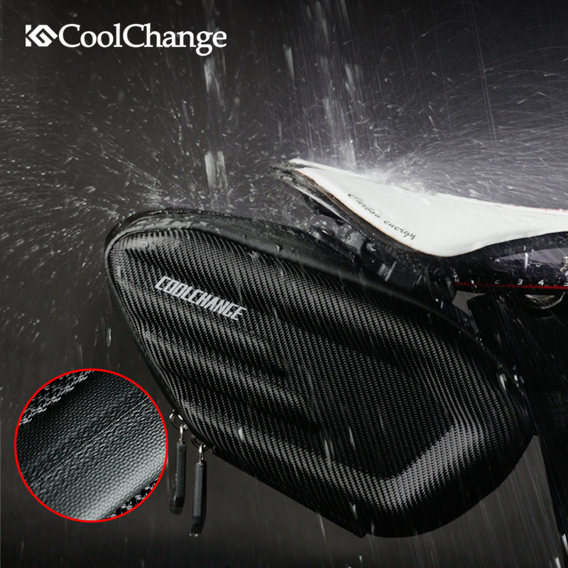 CoolChange Bicycle Saddle Bag Waterproof Bike Rear Bags Shockproof Cycling Rear Seat Tail Bag Reflective MTB Bike Accessories