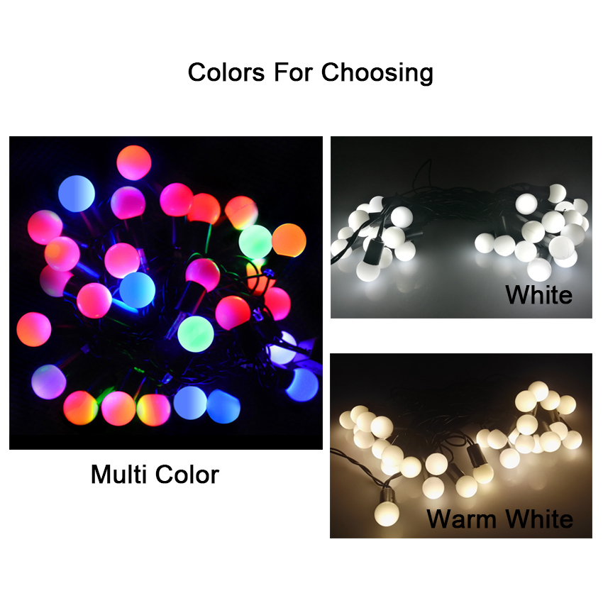 LED Ball light String Garland light chain Christmas Lights Decoration Wedding Decorative Lights for bedroom in home decoration