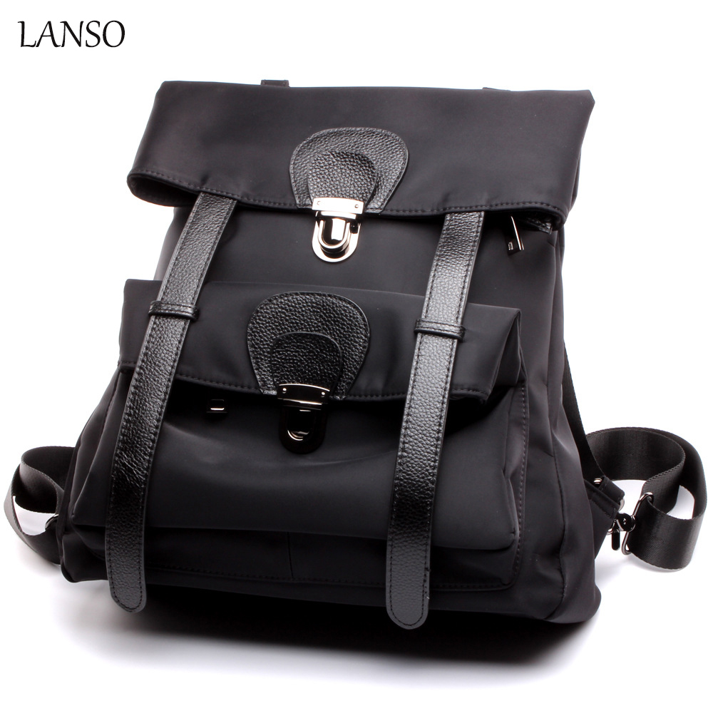 LANSO Women 100% Real Leather Backpack Original Design Casual Daypack Large Capacity for Travel Student School Bag Hot Sales men backpack student school bag for teenager boys large capacity trip backpacks laptop backpack for 15 inches mochila masculina