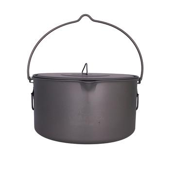 TOAKS Outdoor Camping Cookware Picnic Hang Pot Ultralight Titanium Pot 1600ml or 2000ml