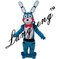 2018 New Five Nights At Freddy's Fnaf Toy Creepy Blue Bunny Mascot Costumes For Adults Christmas Halloween Outfit Free Shipping