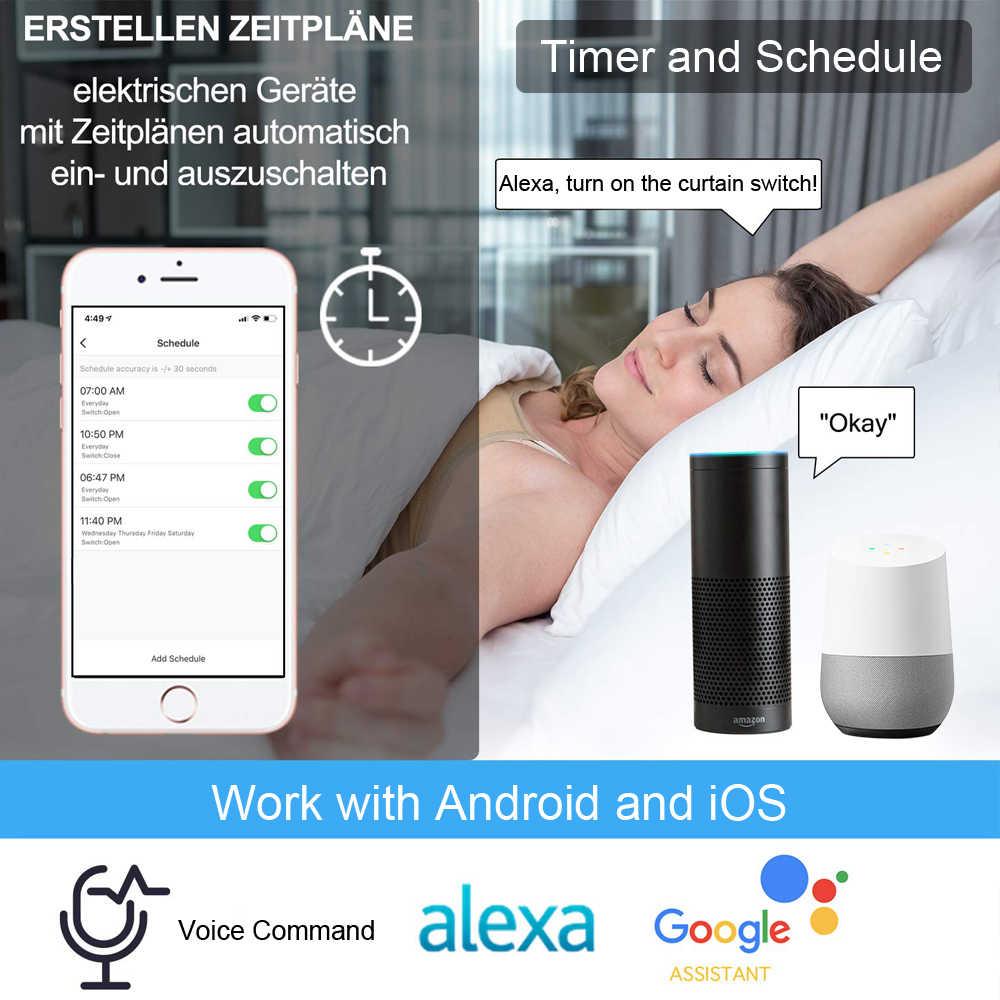 Tuya Smart Life RF WIFi умные шторы переключатель роликовой шторки Google Home Alexa Echo Голосовое управление приложение умный дом таймер