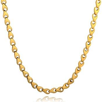 fb2f152c15a8 6.5mm hueso enlace Collares de cadena para hombres joyería llenada oro 60  cm hip hop gargantilla joyería de moda caliente