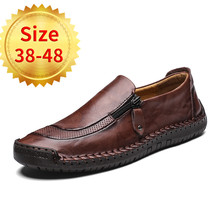 2018 Men Shoes luxury Brand Leather Casual Driving Oxfords Shoes Men Loafers Moccasins Italian Shoes for Men Flats Size 38-48 rommedal 2019 new men shoes luxury brand genuine real cow leather casual oxfords shoes men loafers moccasins for men shoes