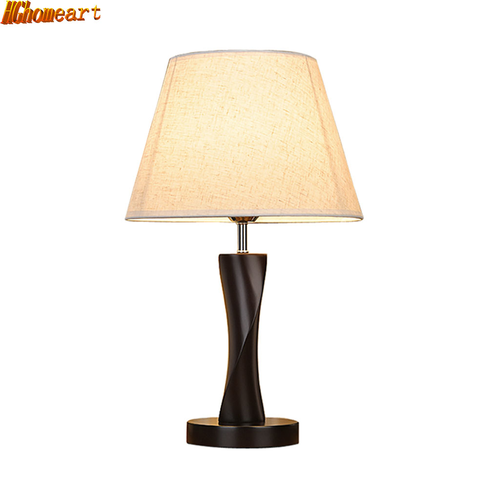 HGhomeart Simple Chinese Fashion Table Lamp Bedroom Bedside Lamp Living Room LedE27 Warm Light Solid Wood Lamp защитные очки truper lede xn серые 10828
