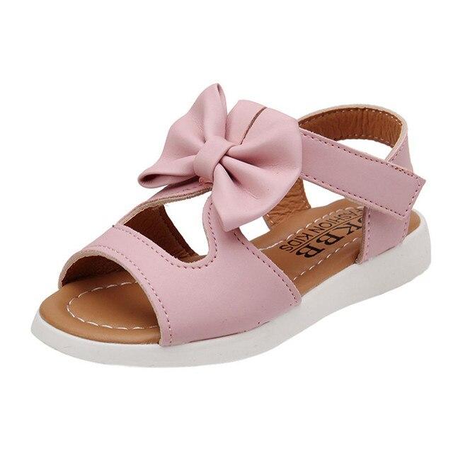 Kids Children girls Sandals Shoes Summer Fashion Bowknot Girls Flat Princess Shoes children's girls shoes drop shipping