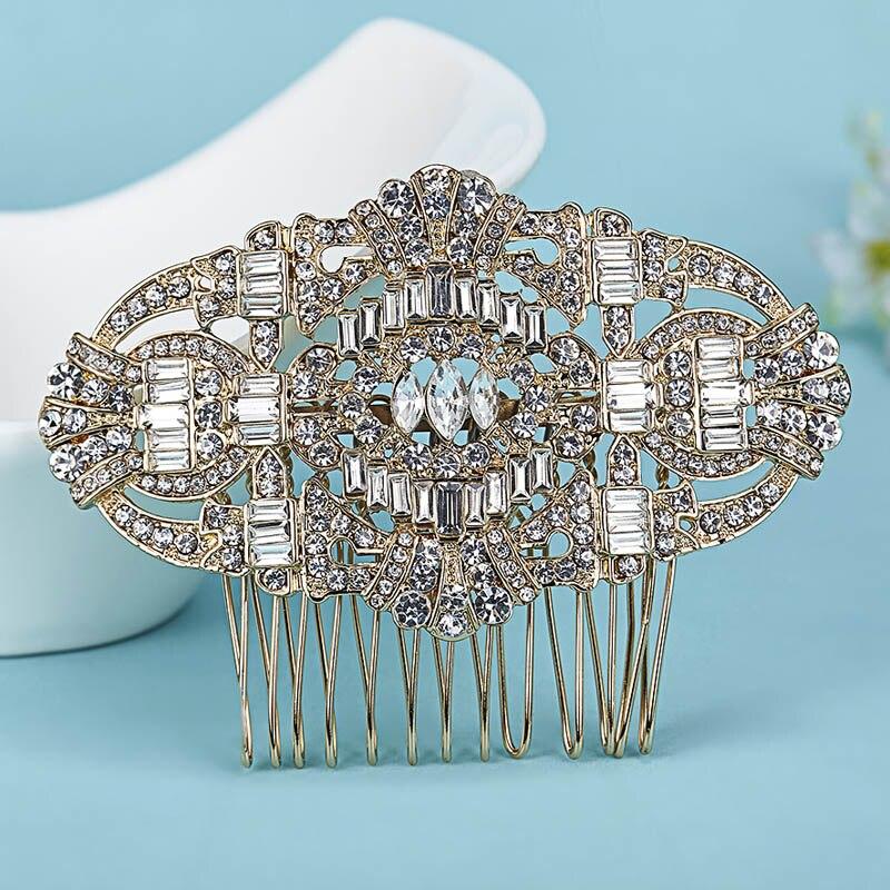 Perfect Wedding Jewelry Bridal Hair Accessories Fashion Rhinestone Crystal Hair Clip Hair Combs brand Bridal Hairwear