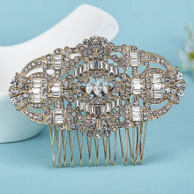 Perfect Wedding Jewelry Bridal Hair Accessories Fashion Rhinestone Crystal Hair Clip Hair Combs brand Bridal Hairwear Bijuterira