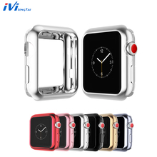 Watch Protect Case frame Soft TPU Plating Cover For Apple series 1/2/3 iWatch 38 /42mm Accessories