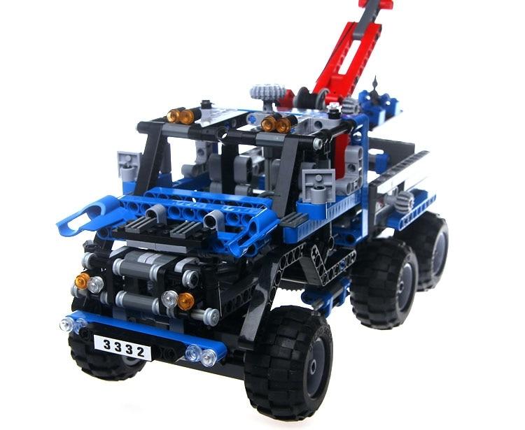 AIBOULLY Free Shipping 3332 LARGE 678Pcs Exploiture Crane model Enlighten Plastic building blocks sets font b