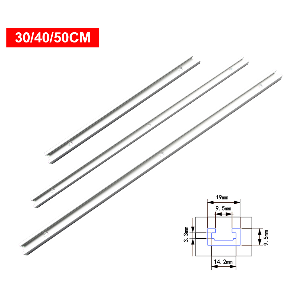 Miter Tool Bar T Tracks Aluminum Alloy Silver Beveled Track Woodworking Limit Hardware Modification Pusher Practical Durable