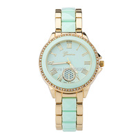 New Colorful Hollow Numbers Women Geneva Watch 5 Colors Gold Plated Women Dress Watch Luxury Top