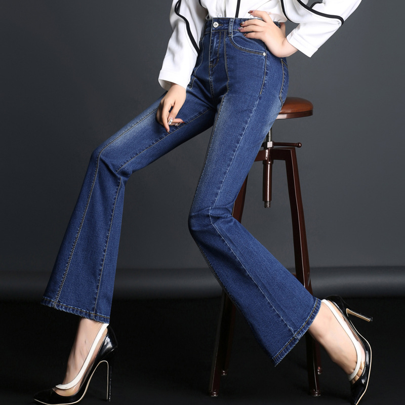MUM Spring 2018 Style Jeans With Zipper Behind Cotton Streetwear Casual Black Skinny Jeans Woman Stretch