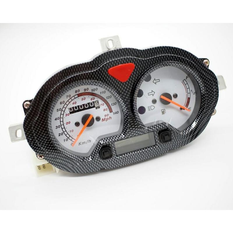 velocimetro classico odometro tacometro com medidor de combustivel para motocicleta qianjiang