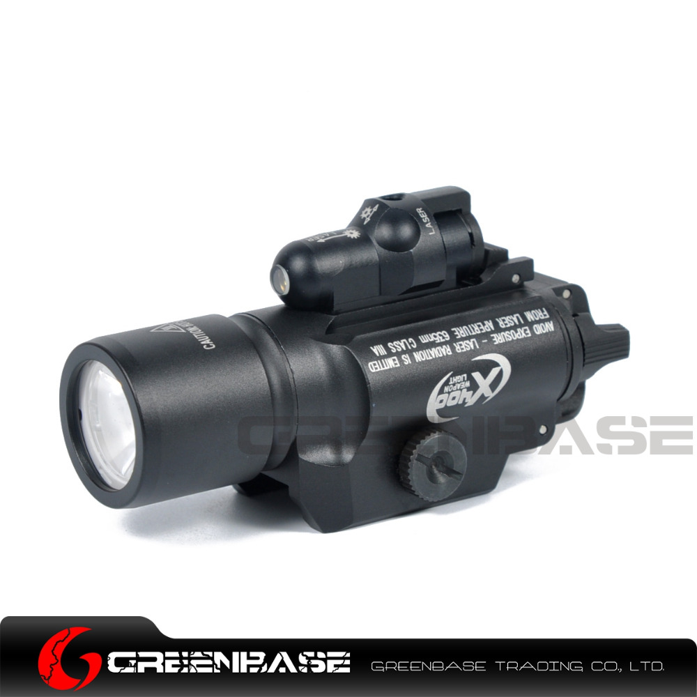 Greenbase Hunting Tactical SF X400 Red Laser Sight Light Gun Flashlight LED White Light / Red Laser / Laser Combo Flashlight xl nxf rg 5mw green laser gun sight w weaver mount led flashlight black 3 x cr 1 3n