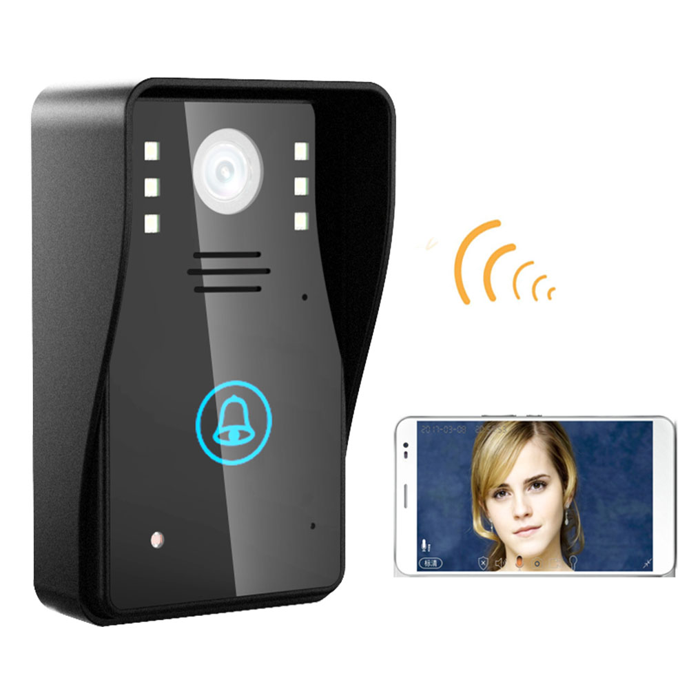 HD 720P Wireless WIFI Video Door Phone Doorbell Intercom System Night Vision Waterproof /door Viewer Camera