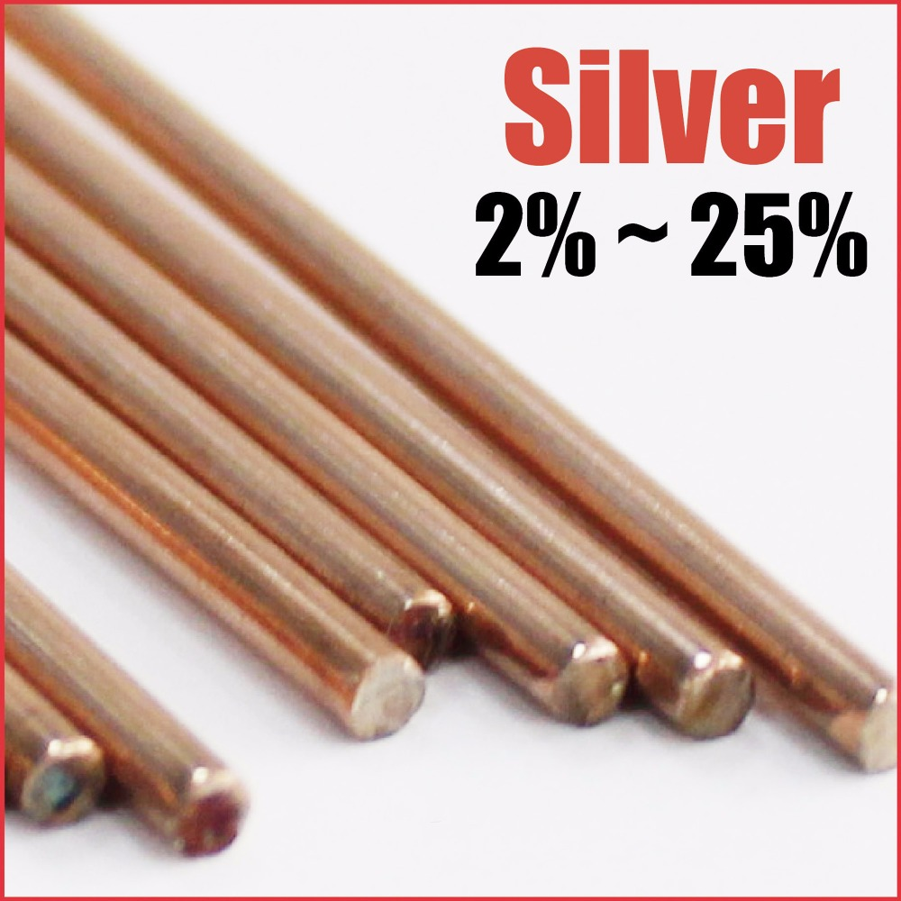 Silver solder copper phosphorus brazing rods phoscopper tig welding mig soldering stainless steel metal alloy 2% 25%