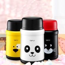 Очень милые панды пищевая вакуумная Изоляция бутылка Мультфильм собака кошка нержавеющей пищевой стали проведение хранения бутылки Детей как подарок