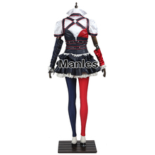 Harley Quinn Arkham Asylum Costume – Cosplay Fancy Dress Christmas Game Outfit All Size