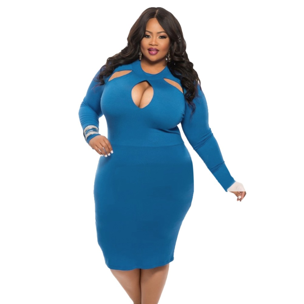 Sexy Night Club O neck Women Plus Size Dresses Hot Casual Cleavage ...