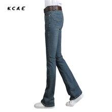 Mid Waist Elastic Slim Boot Cut Bell Bottom Jeans Four Seasons Men's Jeans Bootcut Bell Bottom Jeans 27-36