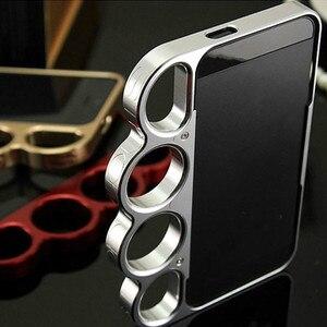 Nuevo parachoques 100% de aleación de aluminio para IPhone 7 7plus anillos de moda señor nudillos de los dedos carcasa de marco de teléfono 4,7/5,5 pulgadas