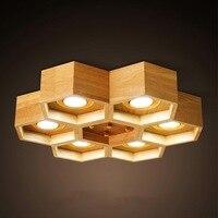 Nordic современный простой деревянный столовая celсветодиодный lular LED потолочные светильники творческий кухонная мебель спальня потолочные Бе