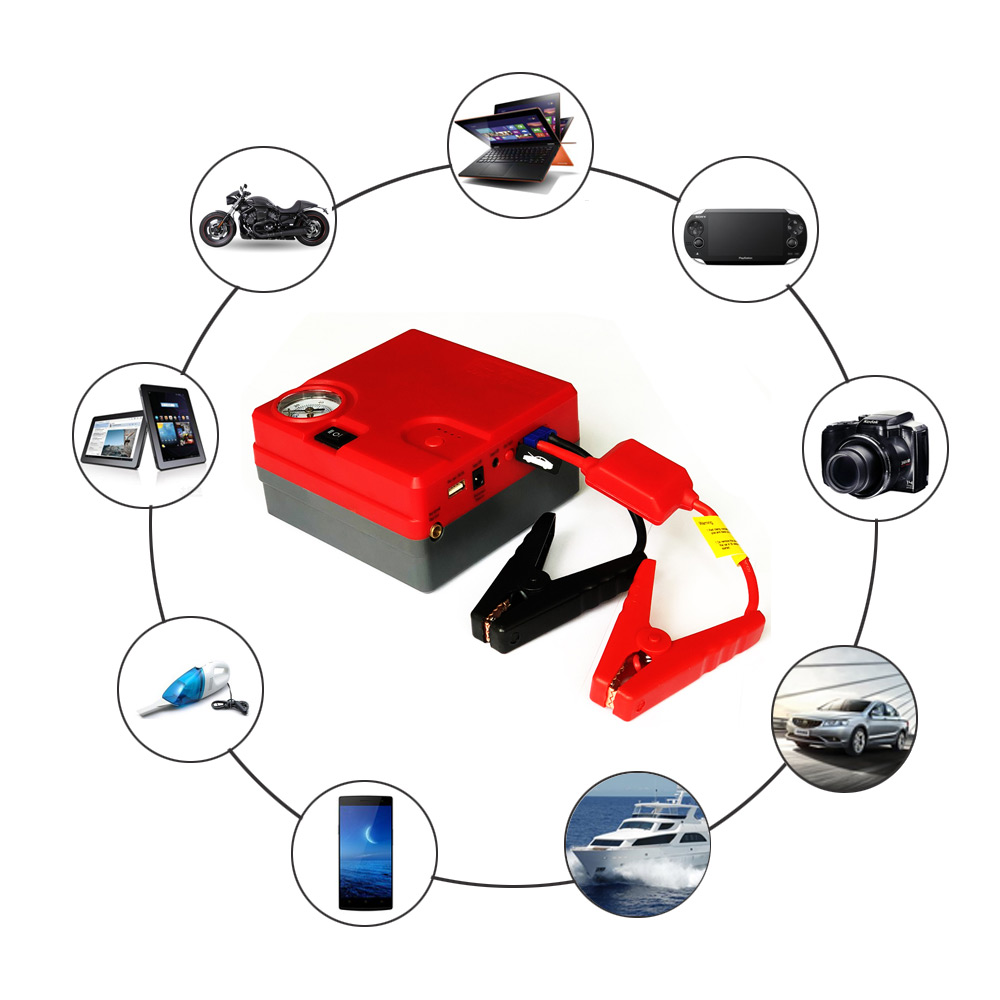 Starting device 12V Car Battery Jump Starter power Booster Power Bank 400A Peak Current Multi-function Car Jump Starter Air Pump 12v 15000mah multi function car jump starter battery charger power bank booster