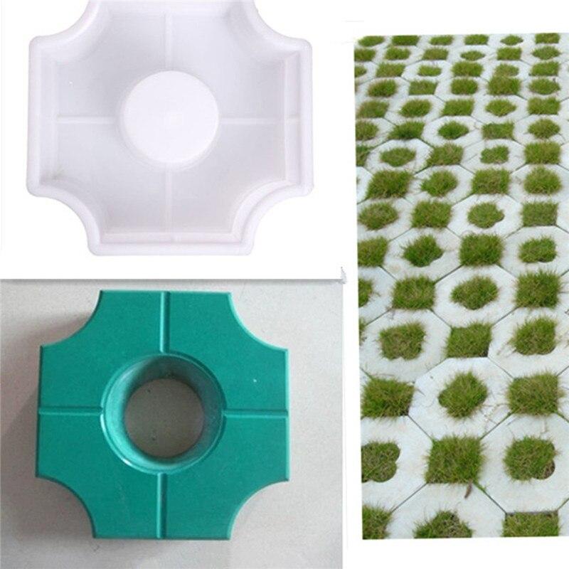 DIY Path Maker Middle Of Hole SHape Garden Path Concrete Plastic Brick Mold Paving Pavement Walkway Molds