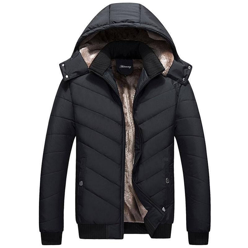 navy Épais Vestes Vêtements Hommes Hiver Veste Manteaux Aidiemeng Outwear Et Marque Parka Blue Mâle 2018 Noir Mens Casual aPqw6x8wA