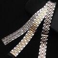 Горячие Продажи Ремешки браслет 14 мм 16 мм 18 мм 20 мм 22 мм Серебро Rosegold СМЕШАННЫЙ Цвет ремешки полированный Нужным Моды КВАРЦЕВЫХ часов
