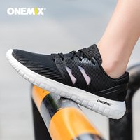 ONEMIX men running shoes breathable gauze mesh vamp sneakers EVA outsole socks sneakers for women outdoor jogging shoes