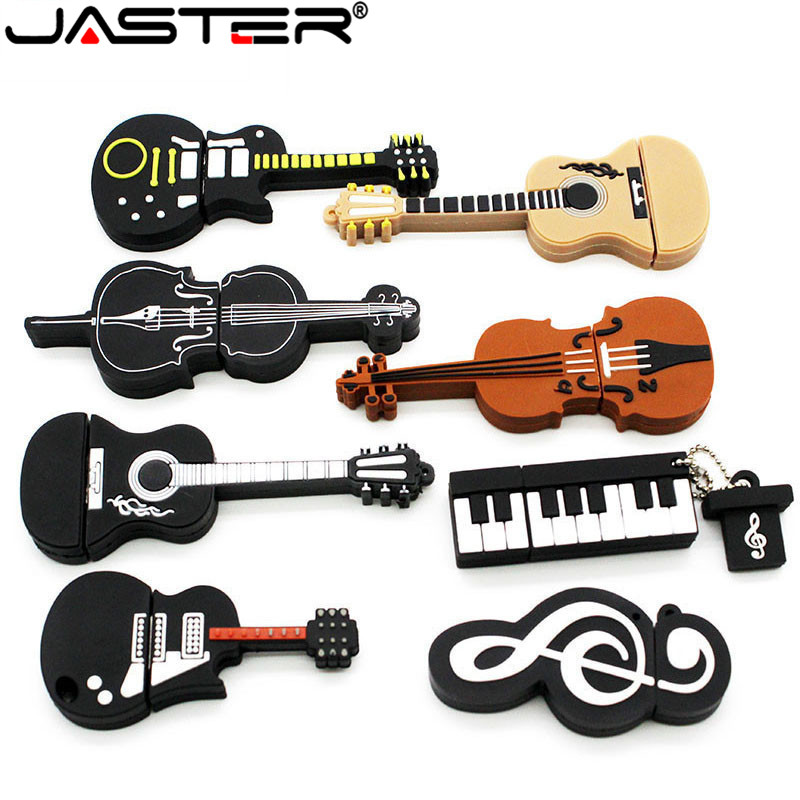 JASTER USB 2.0 8 Styles Of Musical Instruments Pen Drive 4GB 16GB 32GB 64GB USB Flash Drive Violin / Piano / Guitar / Keyboard