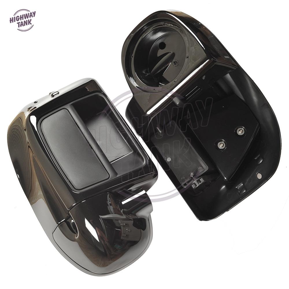 Black Motorcycle Lower Vented Fairing Moto Side Speaker Box Pod Case for Harley Touring Street Glide Ultra 2014 2015 2016 2017