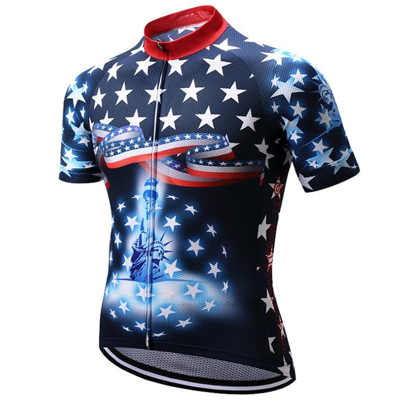 Prix pour Cyclisme Jersey 2017 USA Pro Vélo Équipe Racing Vêtements de Cyclisme vtt Vélo Jersey Shirt Tops Maillot Ropa Cilcismo hombre bicicleta