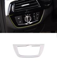 ABS Chrome Car Headlight Switch Button Frame Trim For BMW 5 Series G30 528li 530li 2018 X4 G02 Auto Accessories