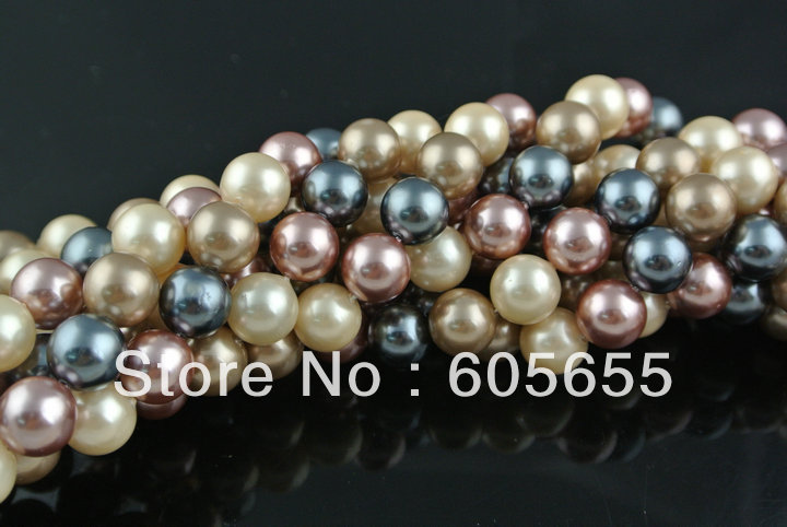 6mm Mix color Shell Pearl Round Loose Beads DIY Jewelry making supplies