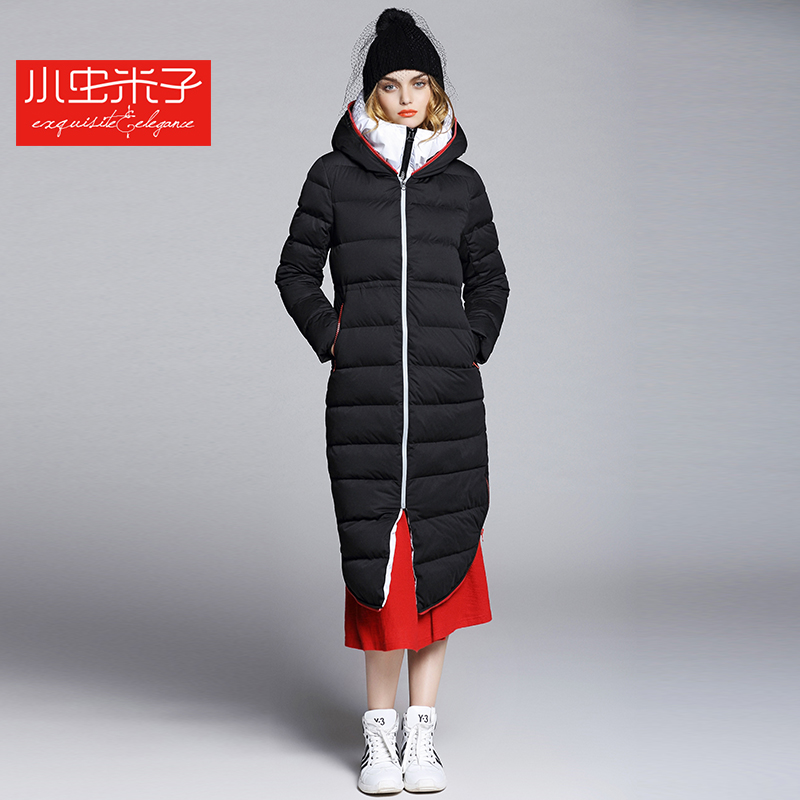 2015 new Hot winter Thicken Warm Woman Down jacket Coat Parkas Outerwear Hooded Raccoon Fur collar Luxury long plus size Leisure 2015 new winter thicken warm women down jacket coat parkas hooded raccoon fur collar cloak long plus size l luxury high quality