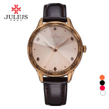 Julius Lady women s Wrist Watch Quartz Hours Best Fashion Cut Dress Korea Leather Bracelet Girl