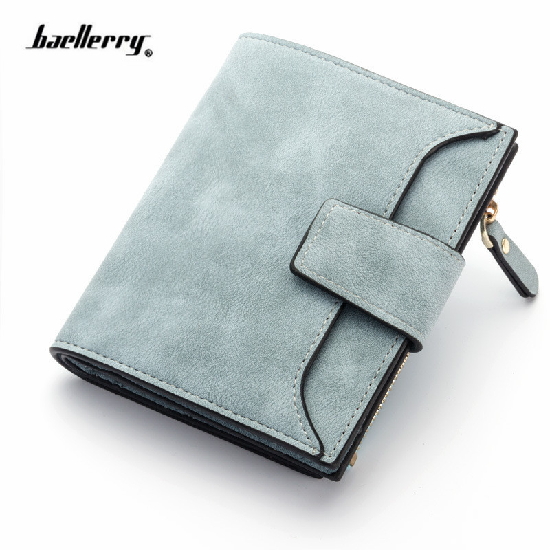 2018 leather women wallet hasp small and slim coin pocket purse women wallets cards holders luxury brand wallets designer purse 4