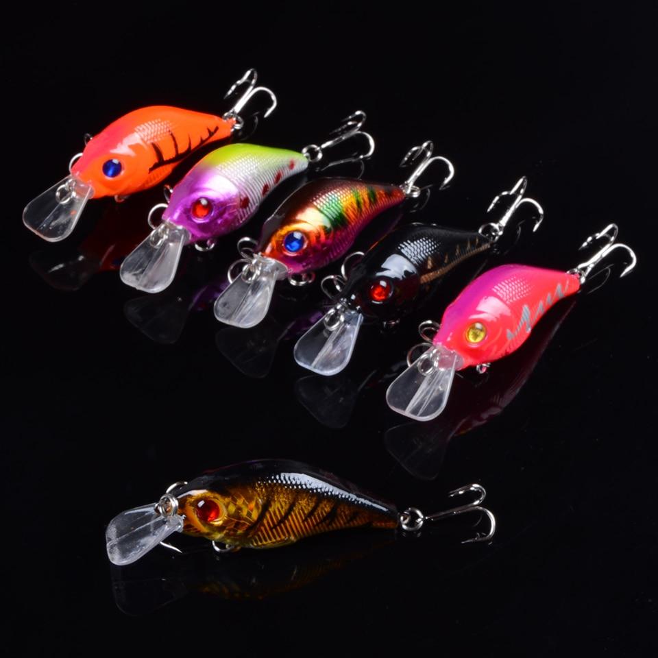 1pcs 7.5cm 10.2g Hard VIB Lures Fishing Minnow Bait Treble Hooks Sinking Crankbait Wobblers Fishing Tackle 3DEyes 5
