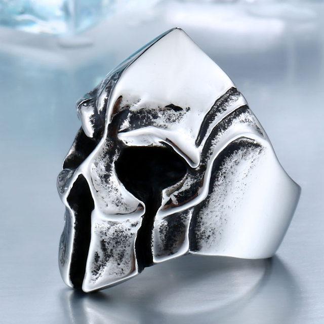 online shop new store dropshipping big biker skull ring for man